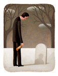 Man in Graveyard