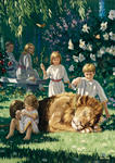 Children With Lion
