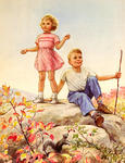 Boy and Girl on Hill