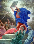Moses Breaking the Tables of Law