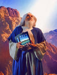 Moses Holding IPad Tablets